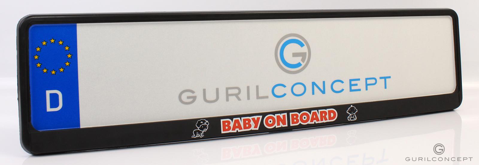 kennzeichenhalter baby an board