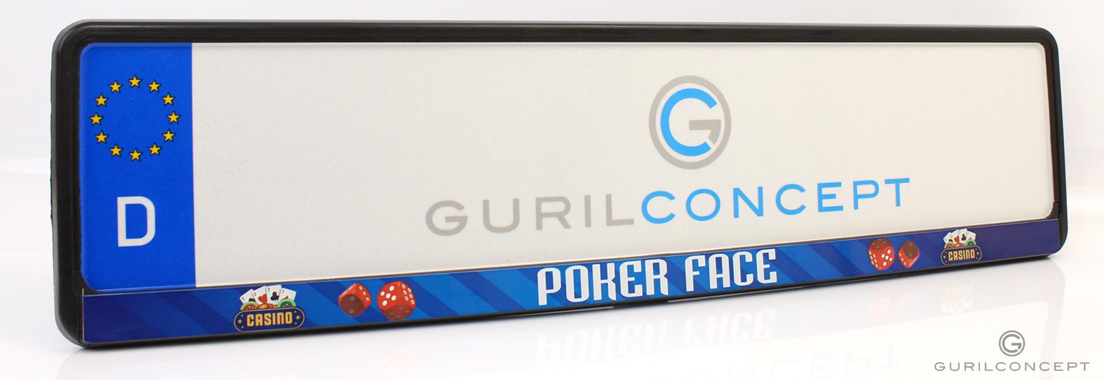 kennzeichenhalter poker face