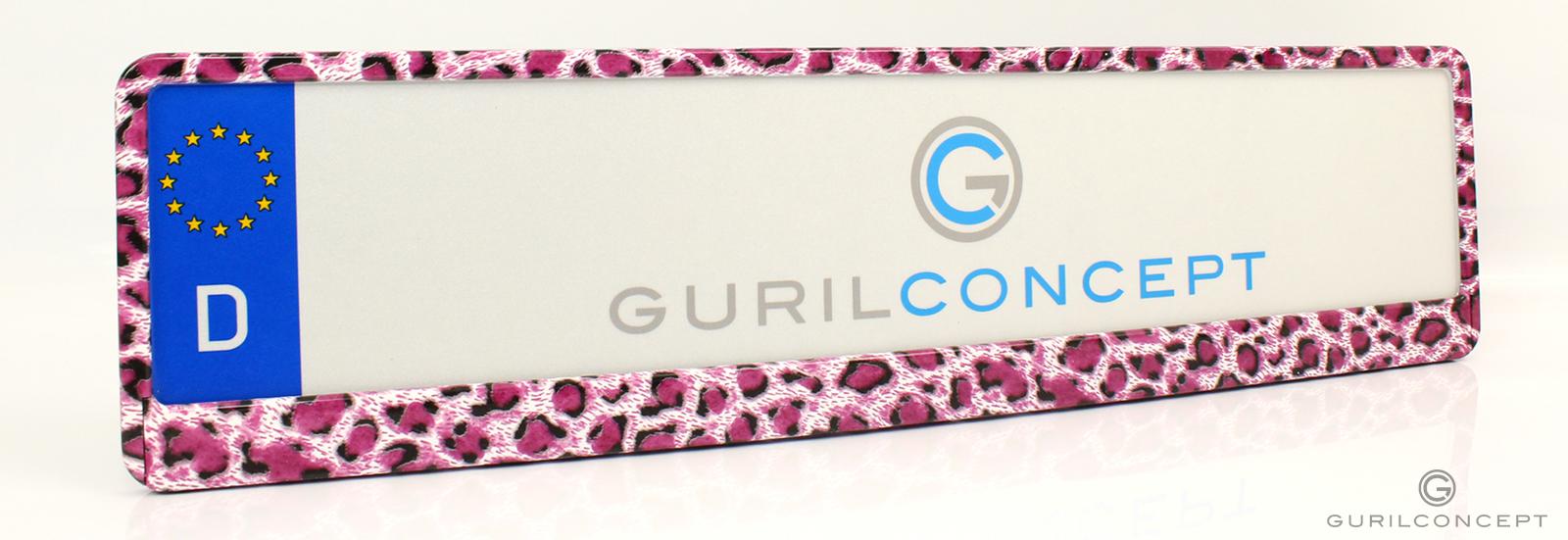 kennzeichenhalter pink leopard